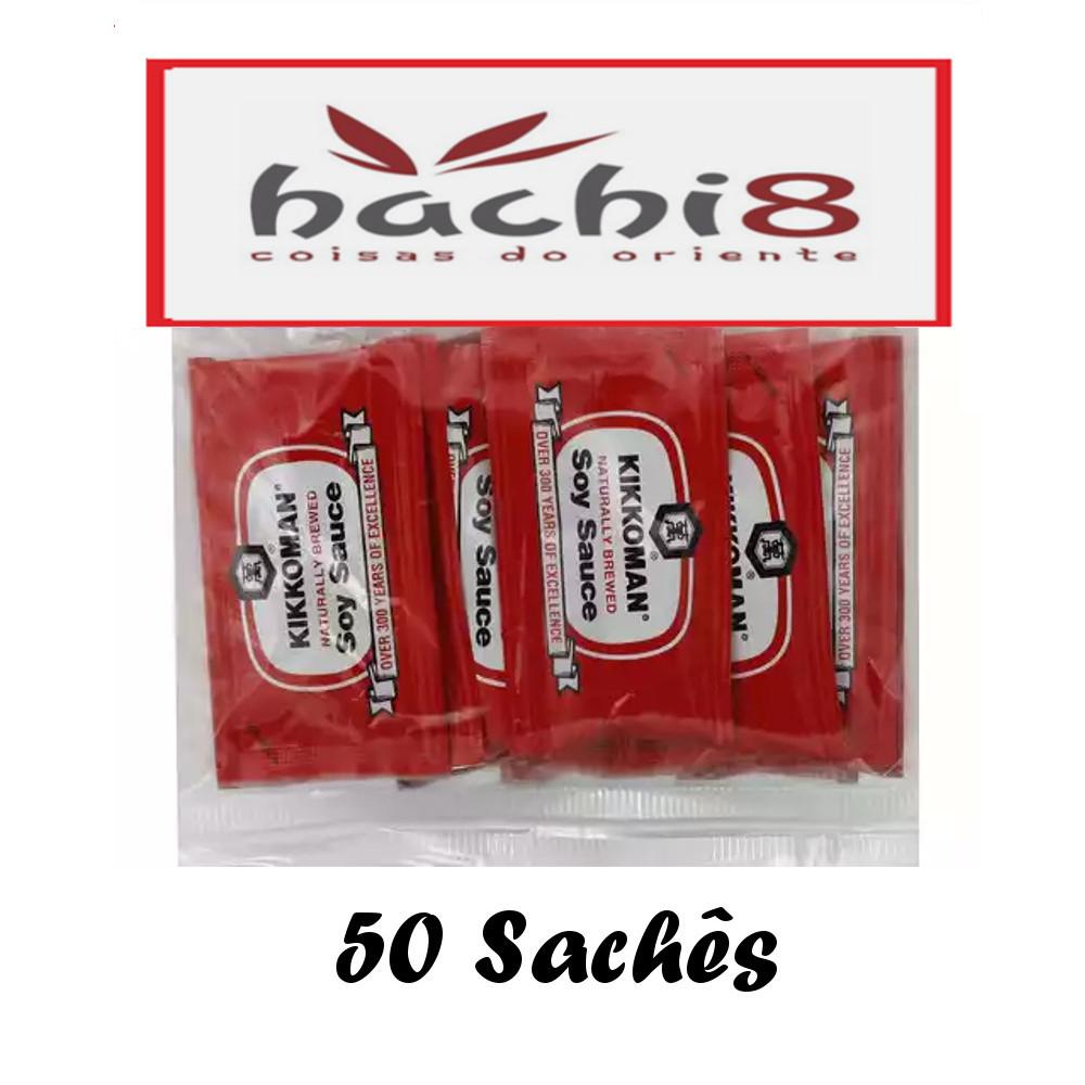 Molho de Soja Shoyu Kikkoman Importado Tradicional 6mL - 50 Sachês