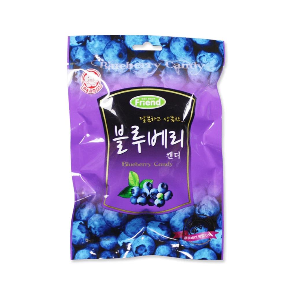 Bala Coreana Sabor Mirtilo Blueberry Mammos - 100 gramas