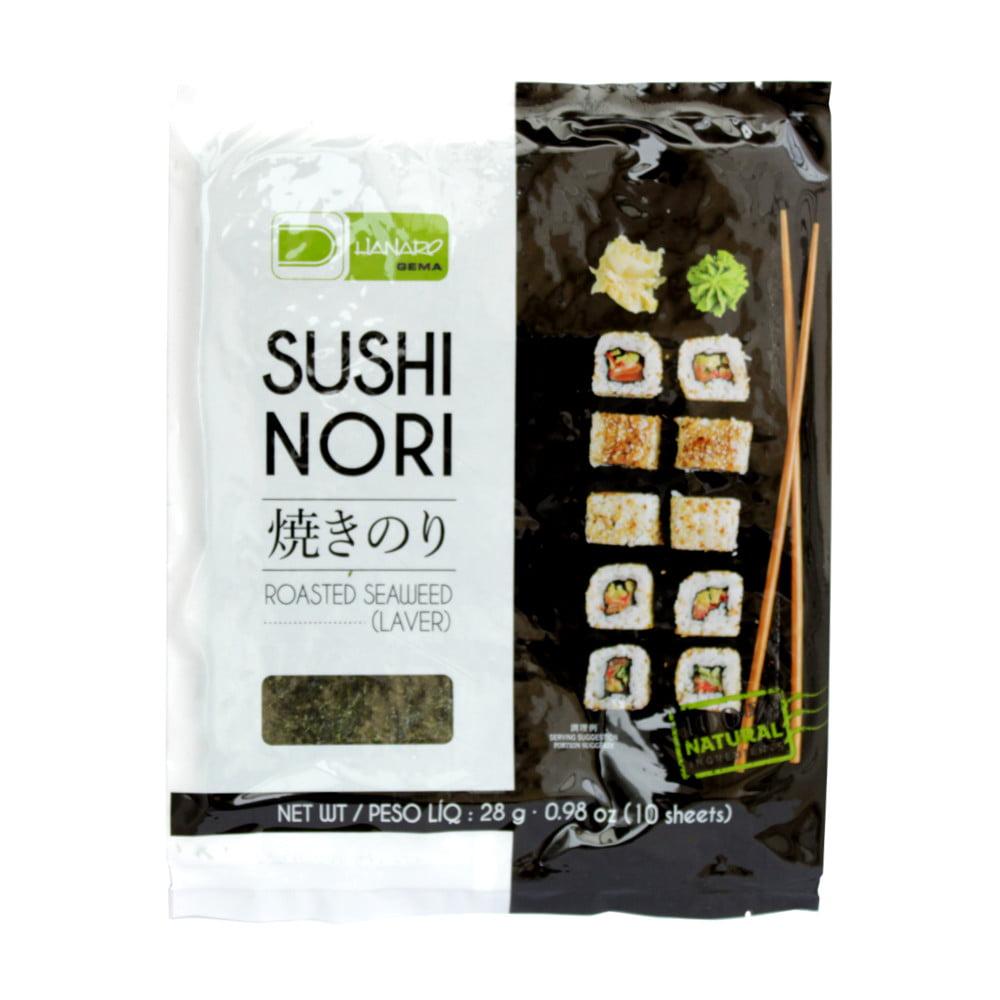 Alga Marinha Sushinori para Sushi e Temaki 10 Folhas - 28gramas
