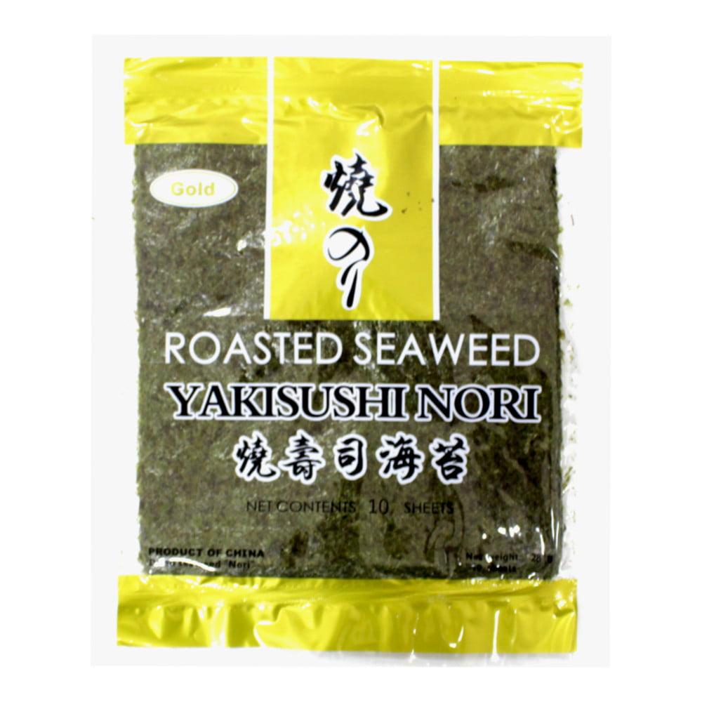 Nori Alga para Sushi e Temaki Yakisushi Gold com 10 Folhas - 28 gramas