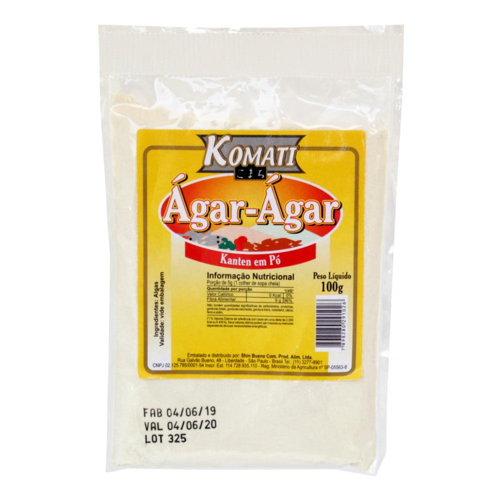 Gelatina Ágar Ágar de Algas em pó Katen Komati  (100 gramas)