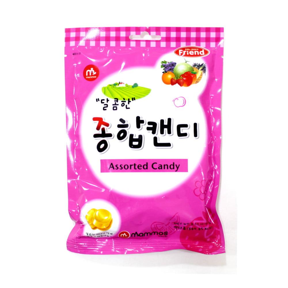 Bala Coreana de Fruta Sortidas Mammos - 100 gramas