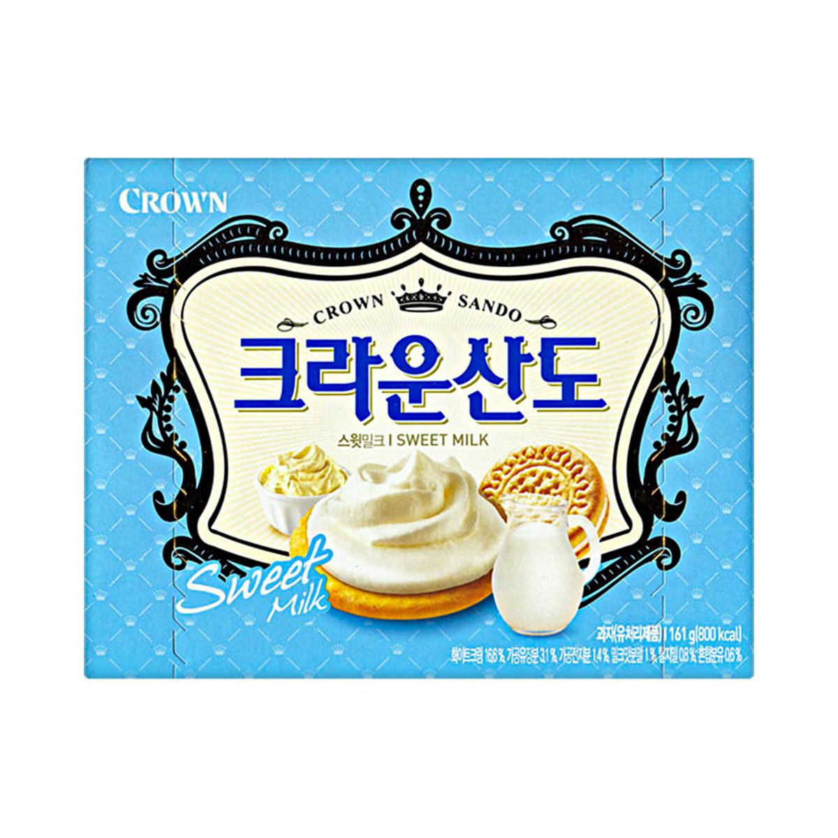 Biscoito Coreano Recheado com Creme de Leite e Mascarpone Sando Crown - 161 gramas