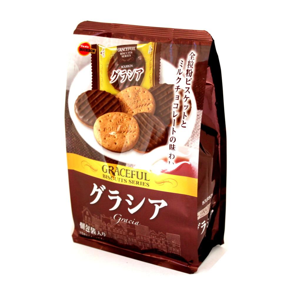 Biscoito Integral com Chocolate Japonês Bourbon Gracia - 94 gramas