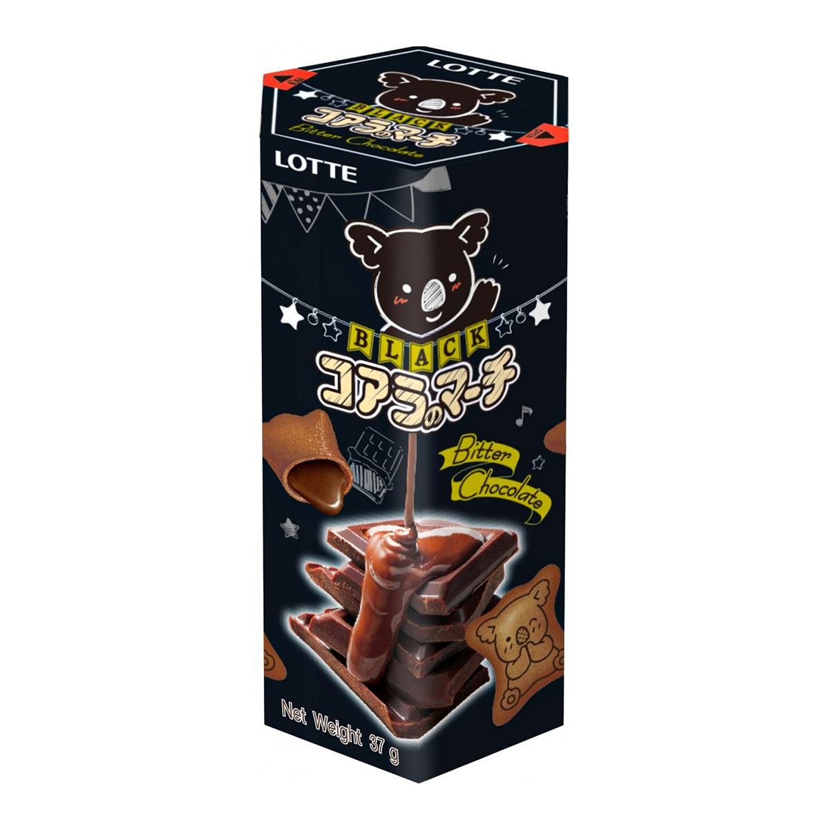 Biscoito Koala com Recheio Chocolate Amargo Lotte - 33 gramas