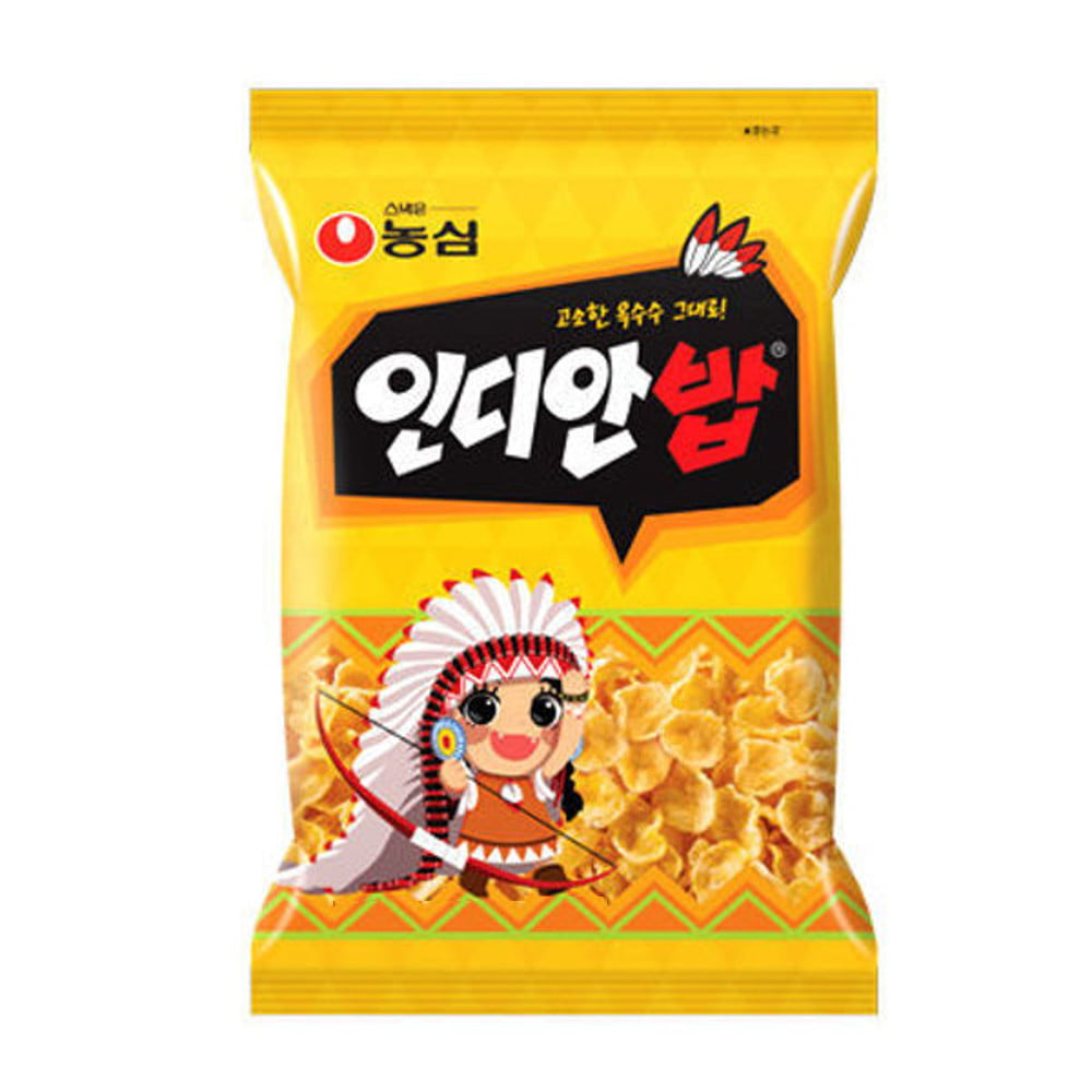 Salgadinho Coreano Sabor Milho Indian Corn Snack Nongshim - 55 gramas
