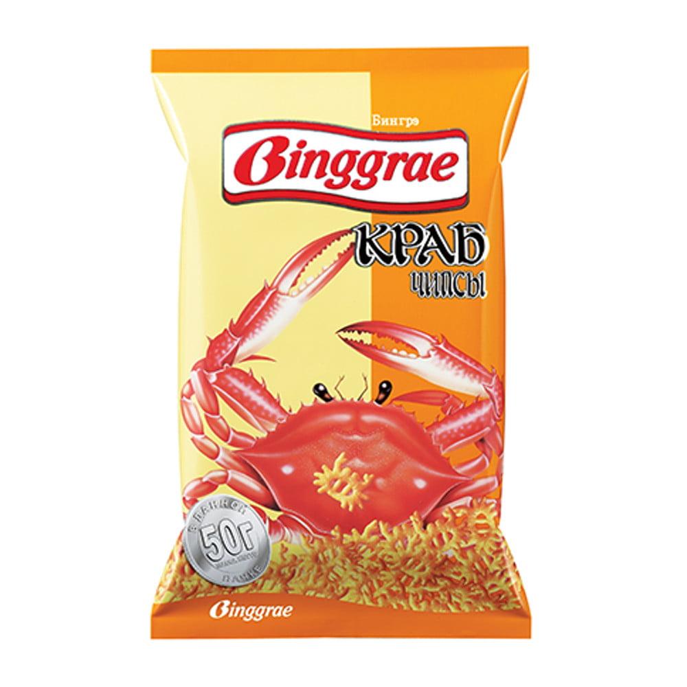 Salgadinho Importado Coreano Sabor Caranguejo Original  Binggrae- 50 gramas