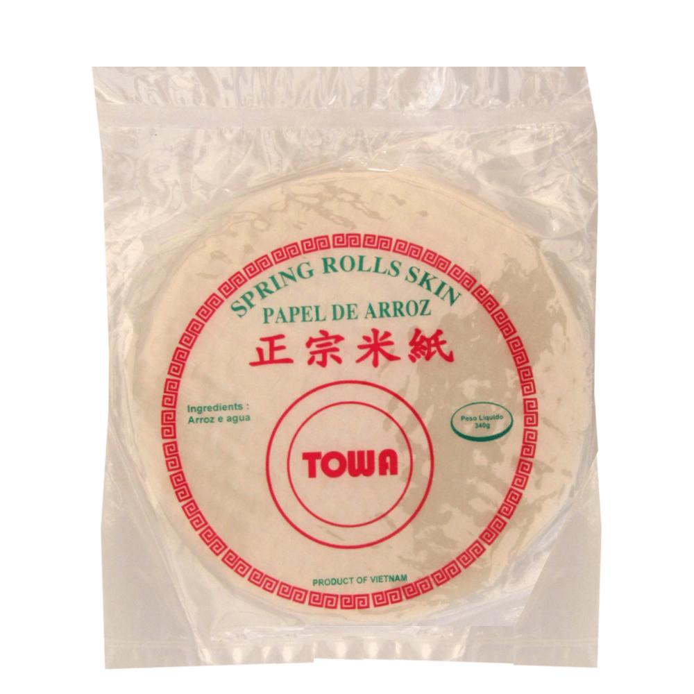 Folha de Arroz (Rice Paper) Harumaki Sring Rolls Skin TOWA – 340 gramas
