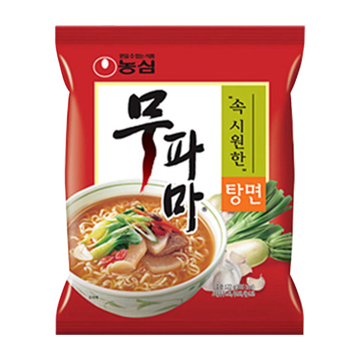 Lamen Coreano Vegetariano Picante Mupama Tangmyun Nongshim - 122 gramas