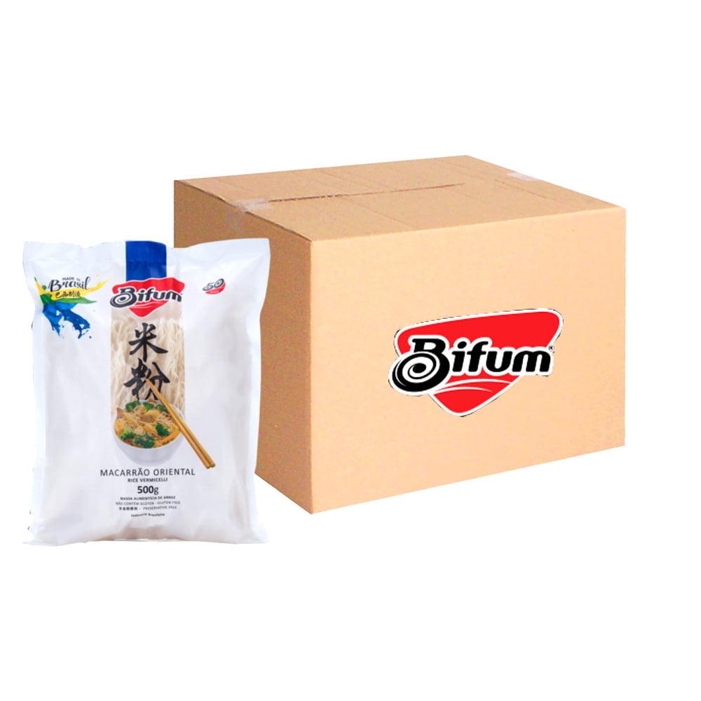 Caixa de Macarrão de Arroz Bifum 500 gramas - 10 Unidades