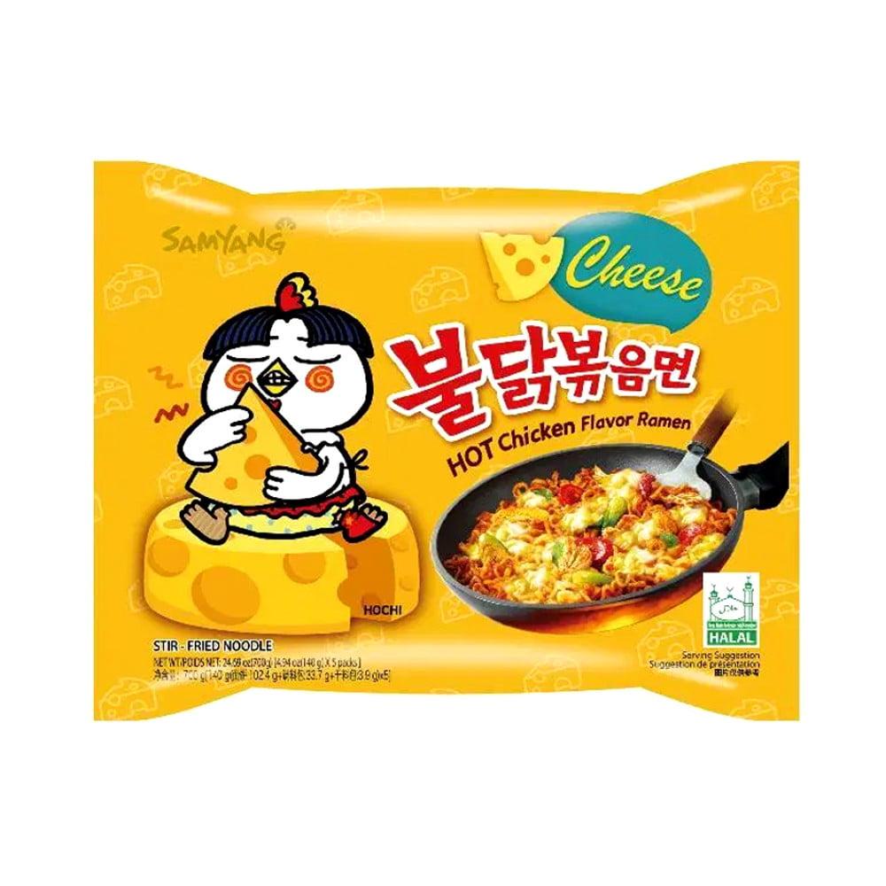 Lamen Coreano Super Picante Sabor Frango Queijo - 140 gramas