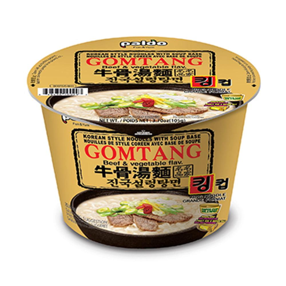 Macarrão Instantâneo Coreano Gomtang Sabor Carne e Vegetais King Cup Paldo - 105 gramas