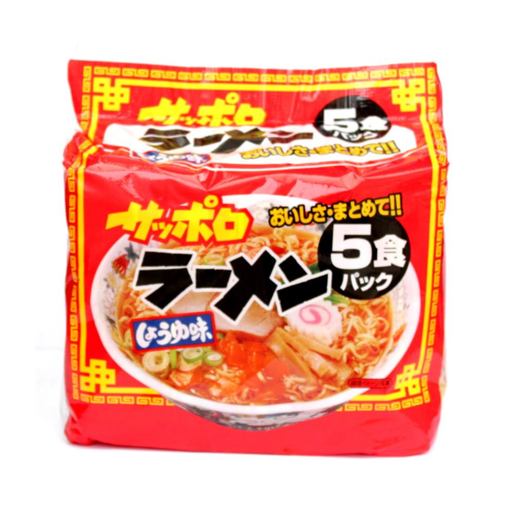 Pacote Lamen Japonês Sapporo Sabor Molho de Soja - 5x75g