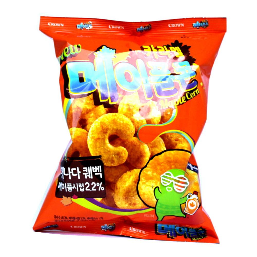 Salgadinho Coreano Sabor Caramelo Maple Corn - 74 gramas
