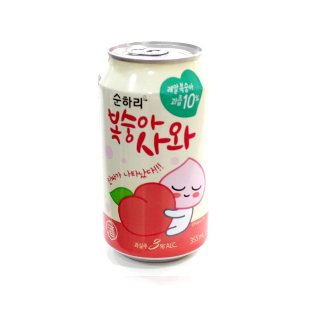 Bebida Alcoólica Coquetel de Pêssego Sunhari Soda Lotte - 355 mL