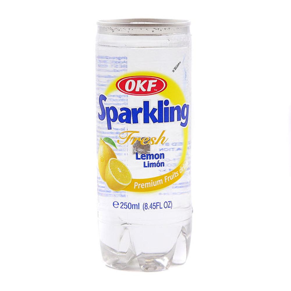 Bebida Coreana Gaseificada Sparkling OKF Sabor Limão - 250mL
