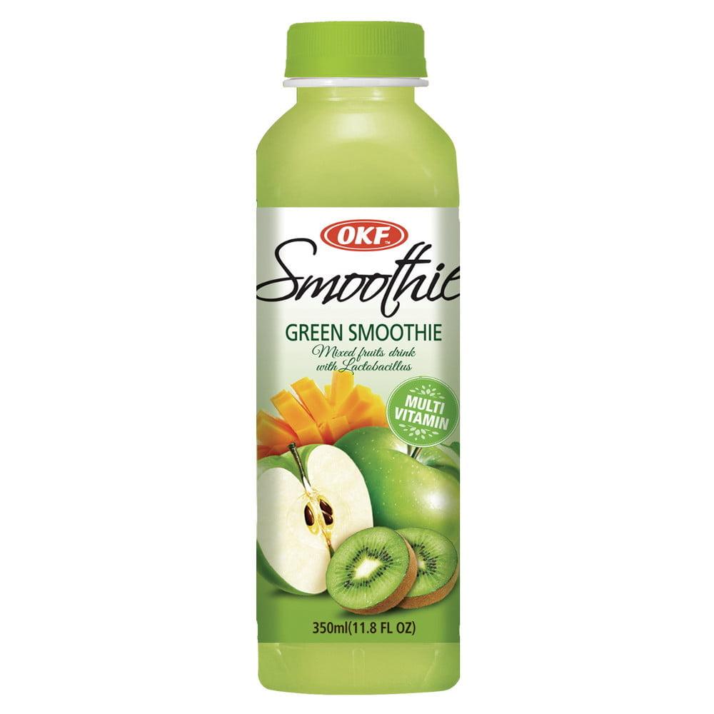 Bebida Coreana Smoothie Mix de Frutas Verdes com Lactobacillus OKF - 350mL