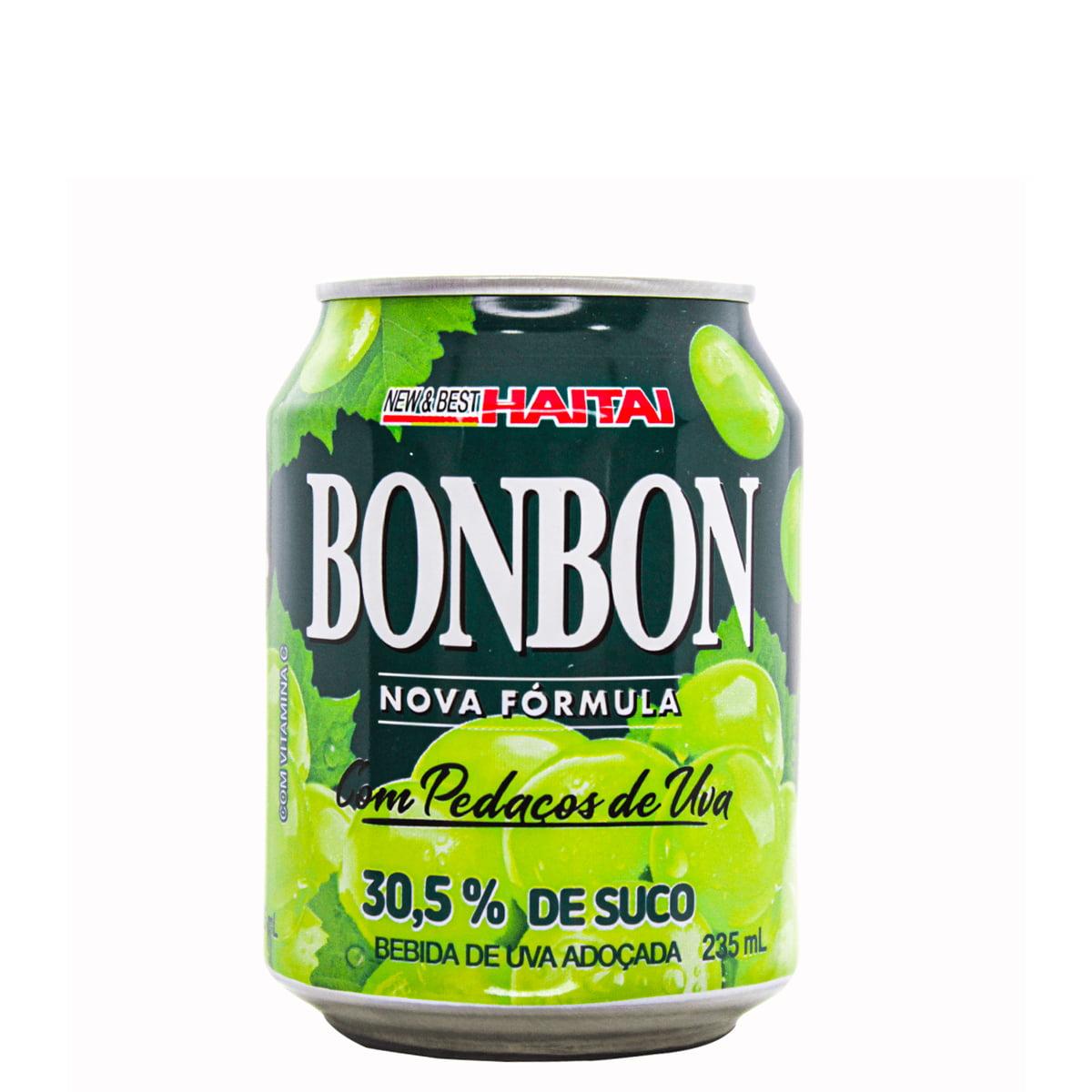 Suco de Uva Verde com pedaços da fruta Bon Bon Haitai - 235ml
