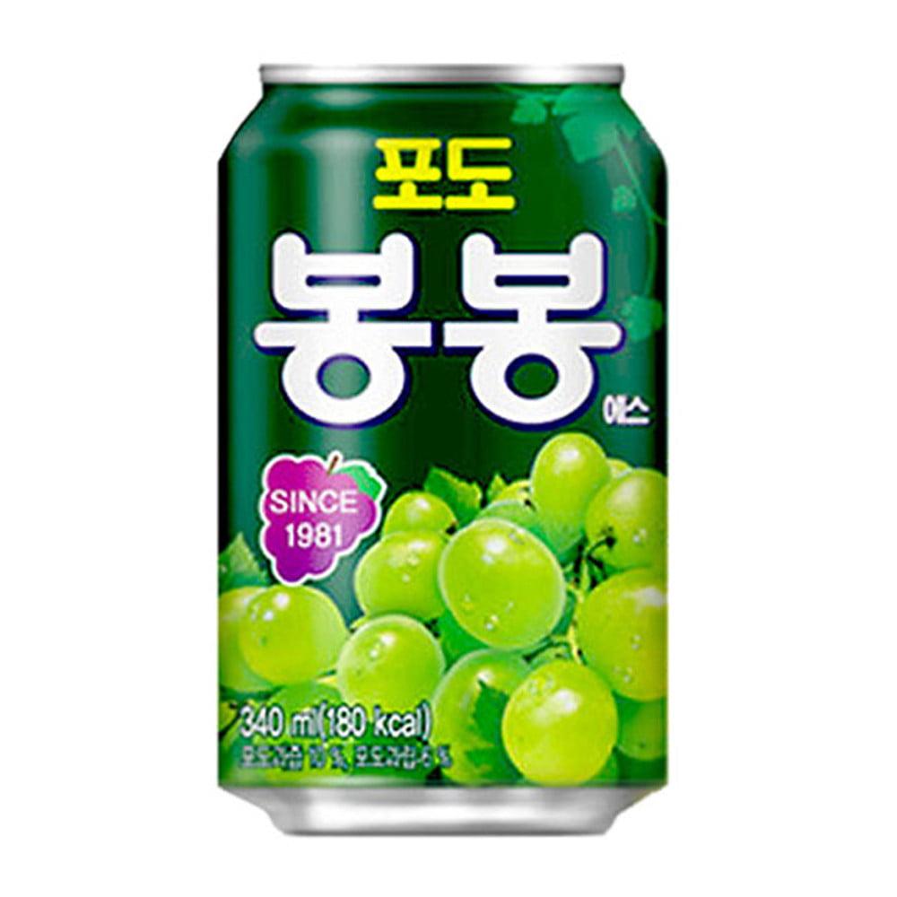 Suco de Uva Verde com pedaços da fruta Bon Bon Haitai - 340mL