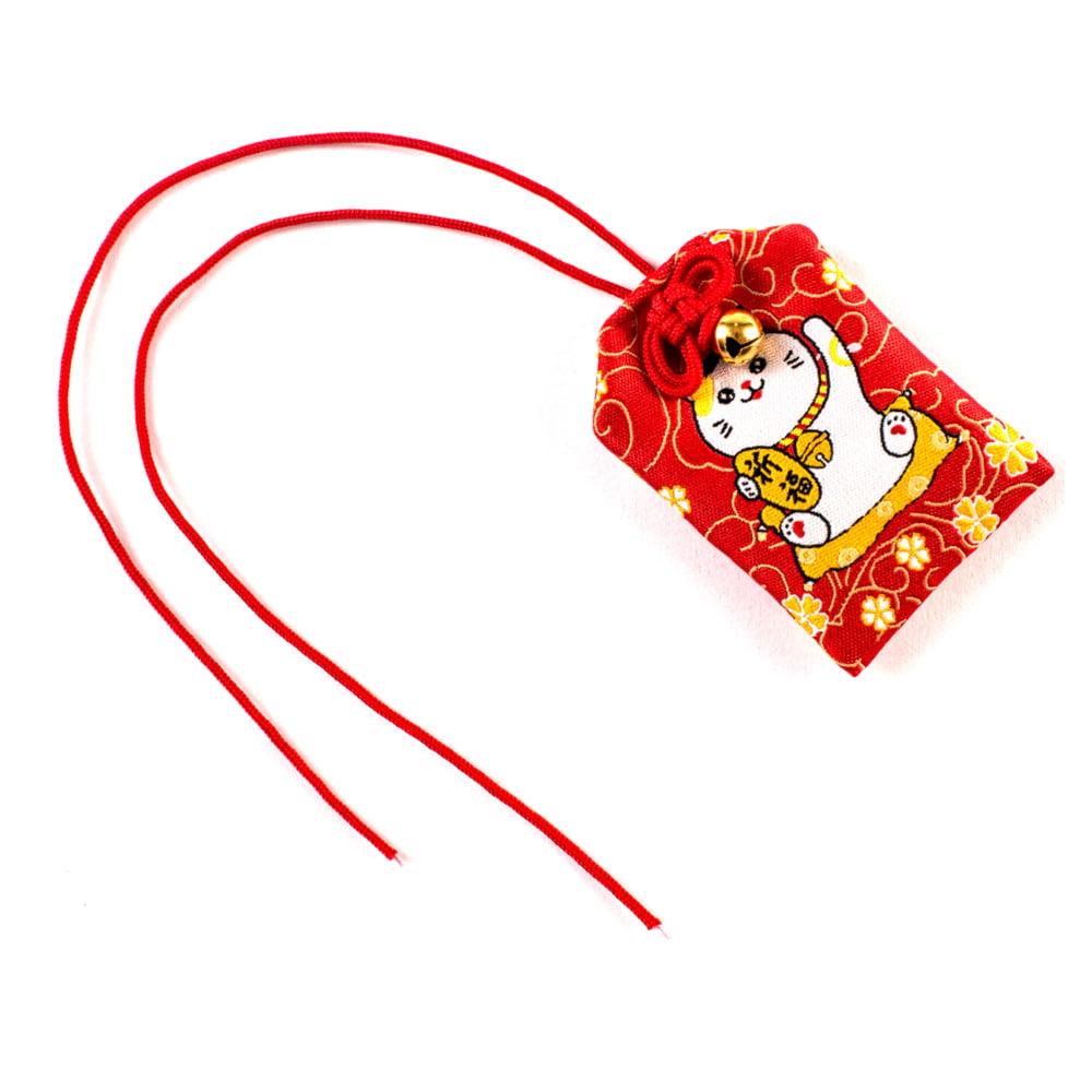 Omamori Amuleto Oriental Gato da sorte - Vermelho
