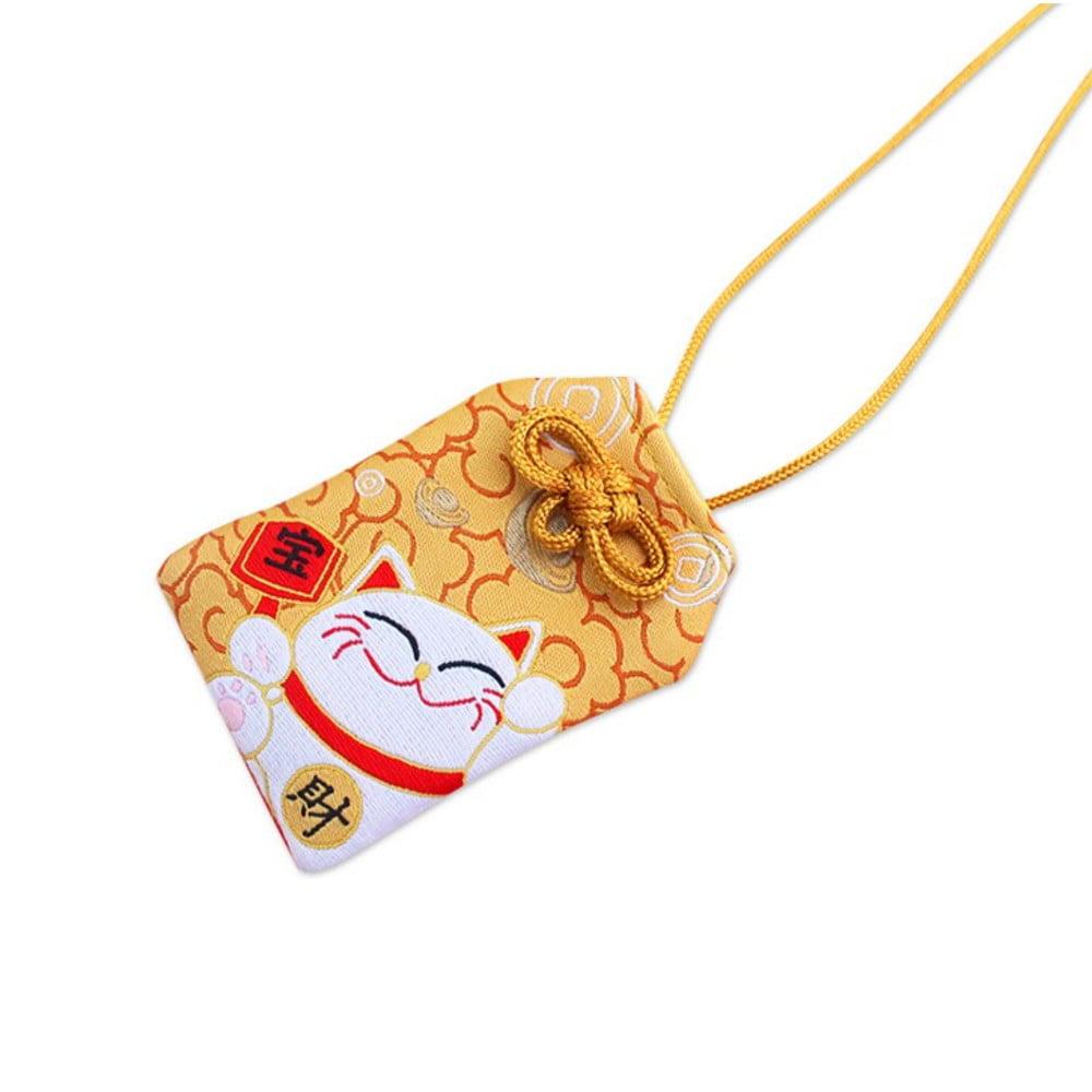 Omamori Amuleto Oriental Gato da sorte - Dourado