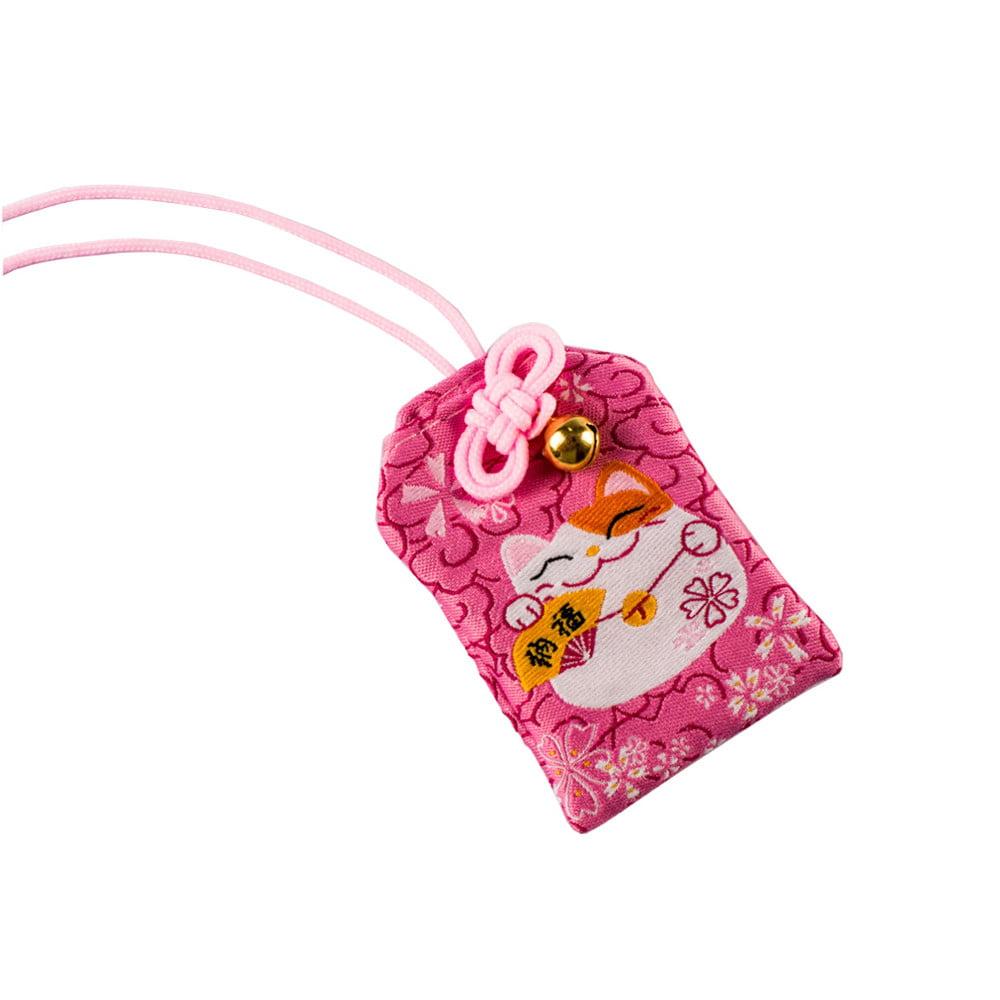 Omamori Amuleto Oriental Gato da sorte - Rosa