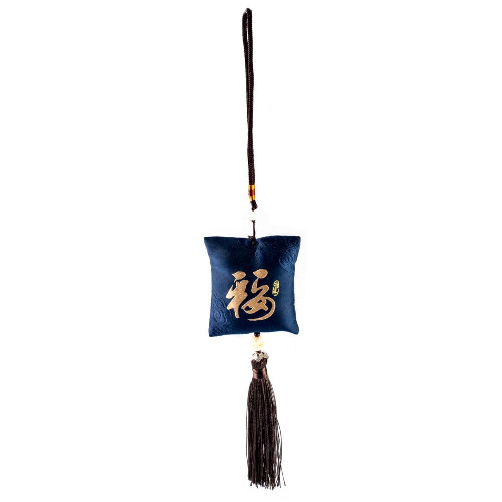 Pendulo Chaveiro Oriental Kanji Sorte - Azul