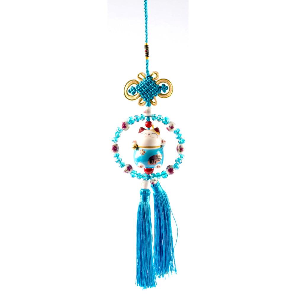 Pêndulo Oriental Gato da sorte - Azul