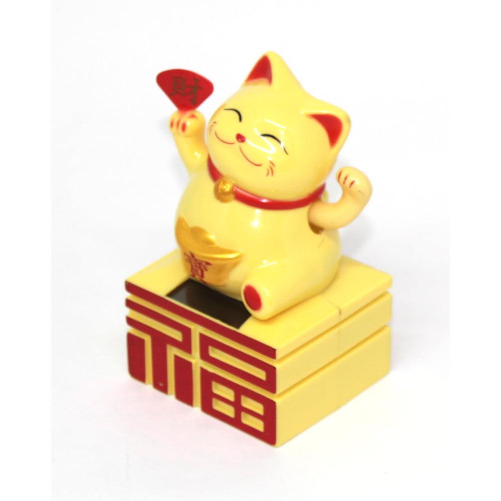 Gato da Sorte Solar Amarelo Enfeite - Maneki Neko