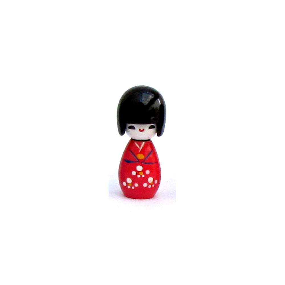 Imã da boneca Japonesa Kokeshi - Vermelho