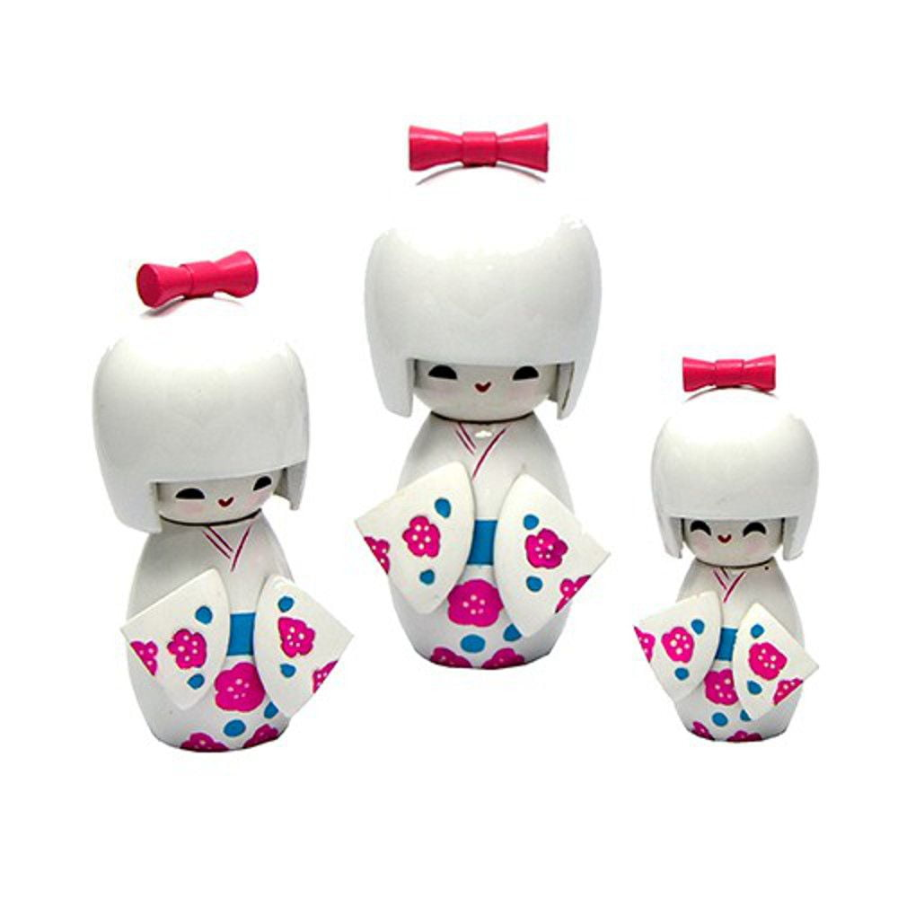 Trio Boneca Japonesa Branca Inteira - TKBS