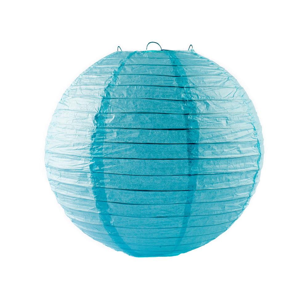 Luminária Oriental Azul Claro Lisa - 30cm