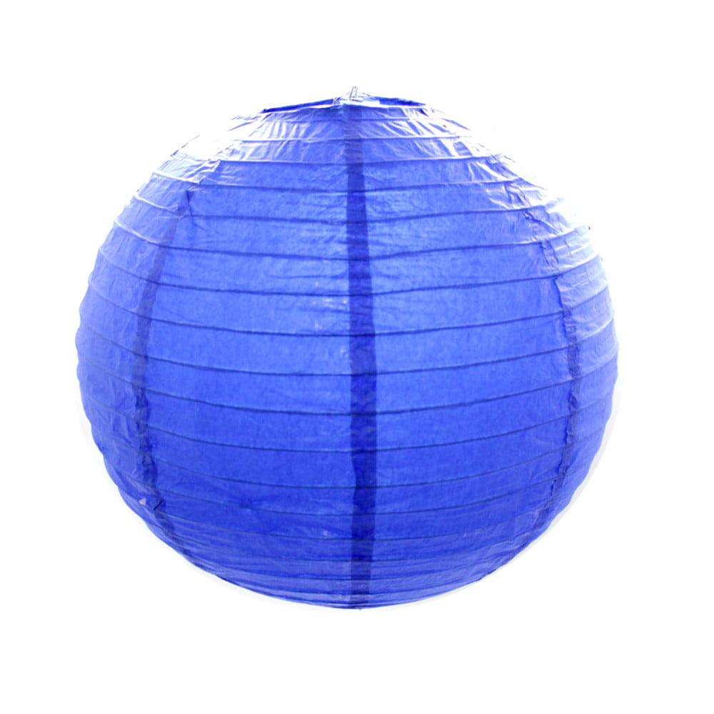 Luminária Oriental Azul Escuro Lisa - 30 cm