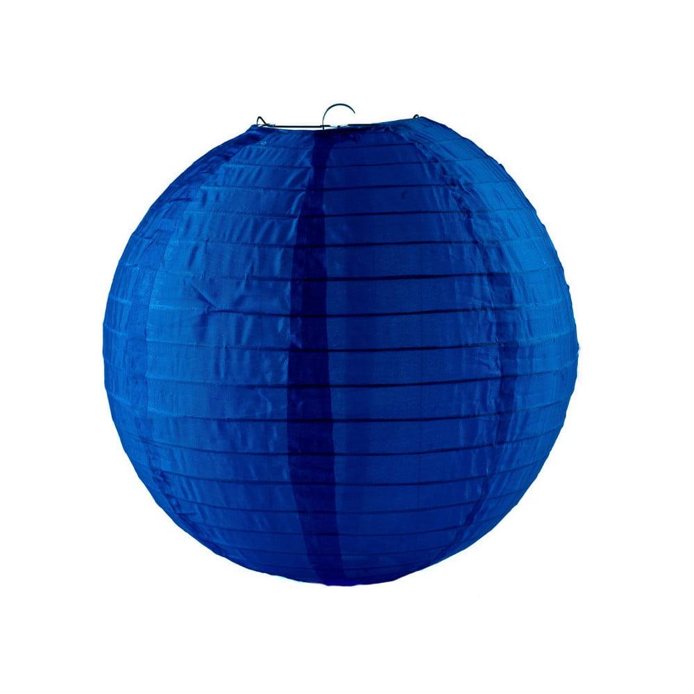 Luminária Oriental Azul Marinho Nylon - 30 cm