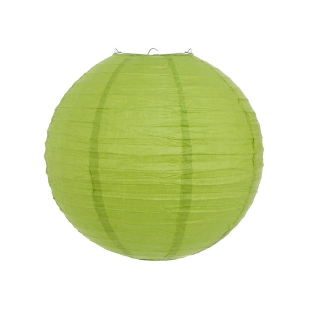 Luminária Oriental Verde Claro Lisa - 30 cm