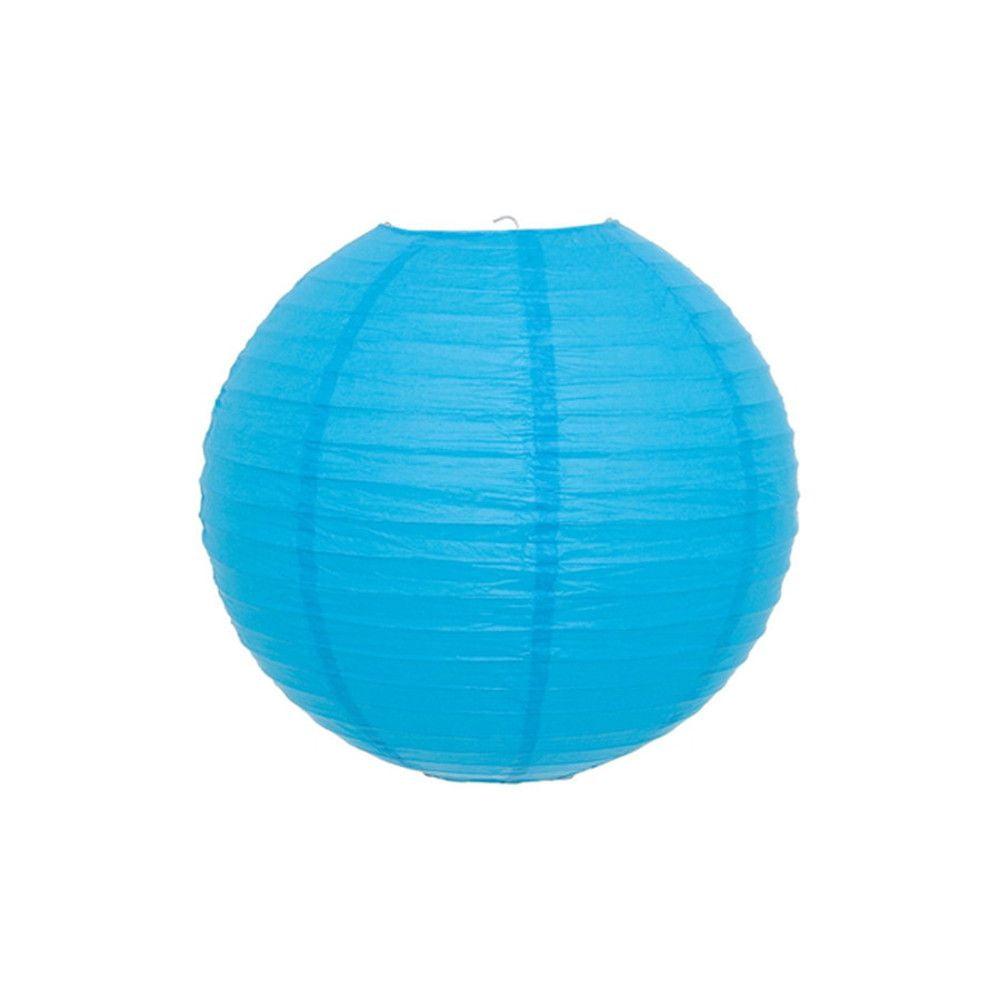 Luminária Oriental Azul Lisa - 20 cm