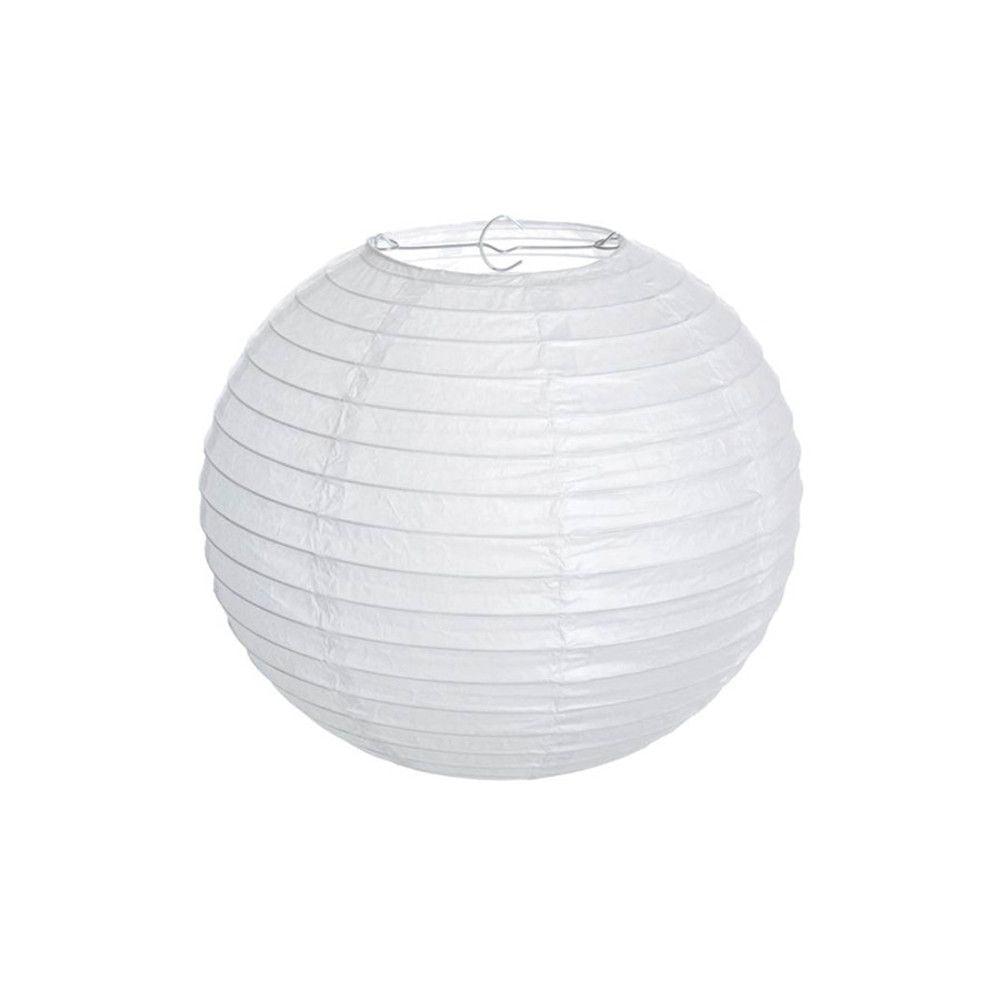 Luminária Oriental Branca Lisa - 20 cm