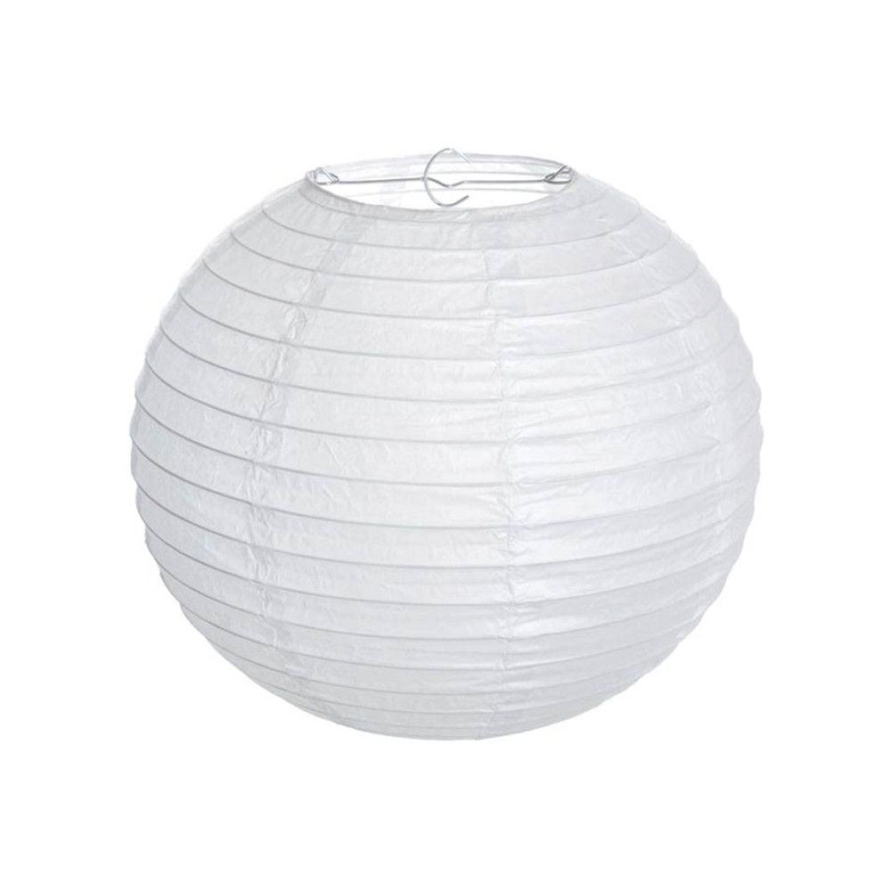 Luminária Oriental Branca Lisa - 30 cm