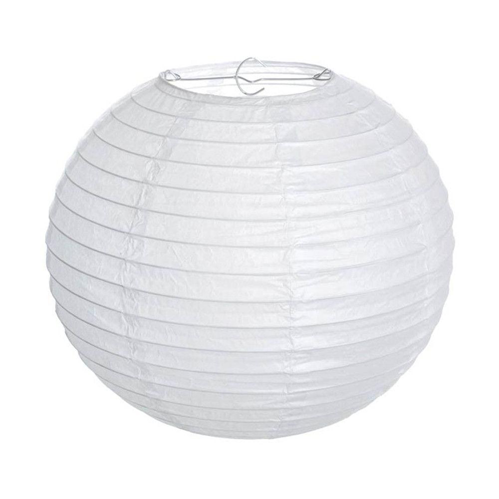 Luminária Oriental  Branca Lisa - 40 cm