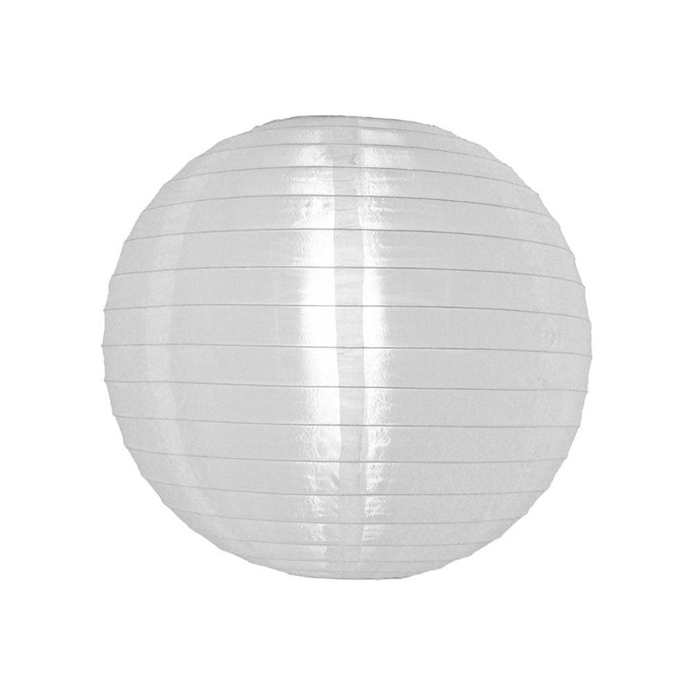 Luminária Oriental Branca Nylon - 30 cm