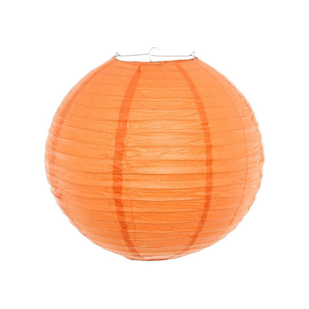 Luminária Oriental Laranja Lisa - 30 cm