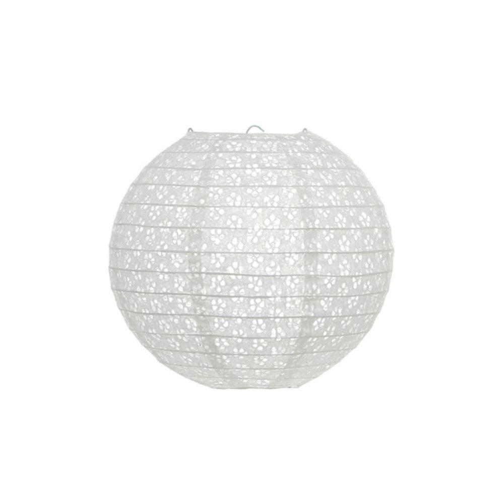 Luminária Oriental Lazy Vazada Branca - 20 cm