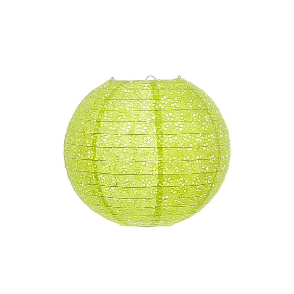 Luminária Oriental Lazy Vazada Verde - 20 cm