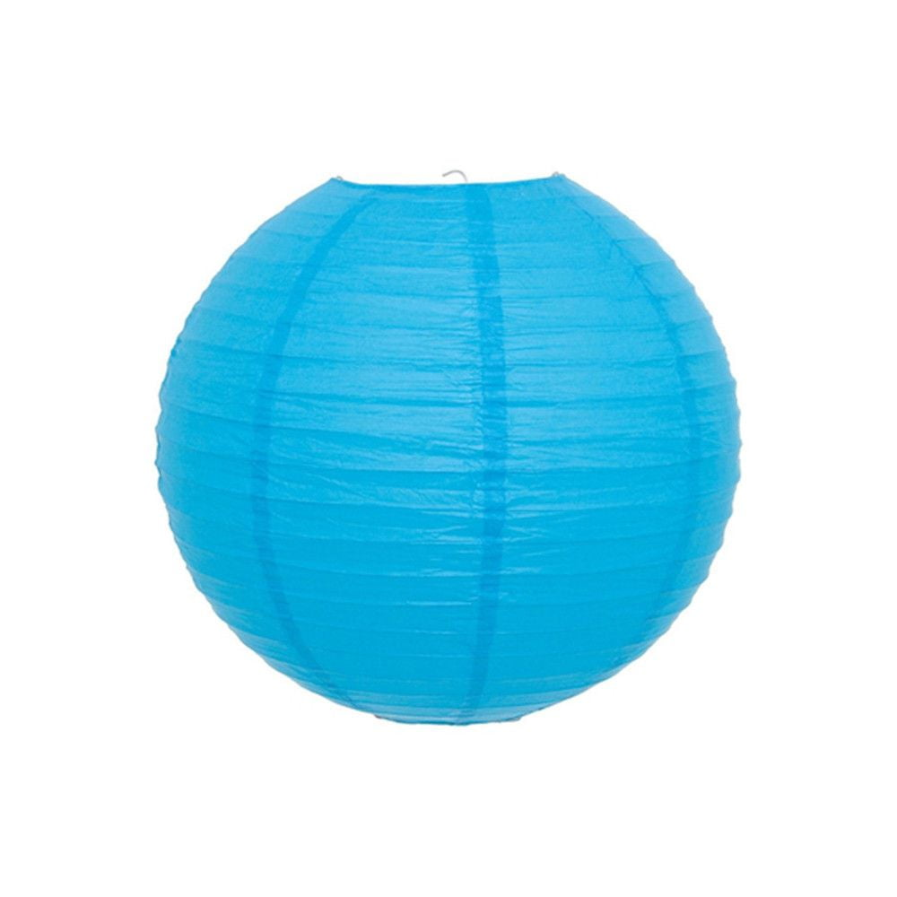 Luminária Oriental Lisa Azul - 25 cm