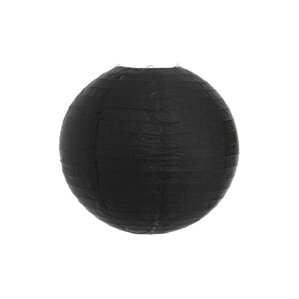 Luminária Oriental Preta Lisa - 20 cm