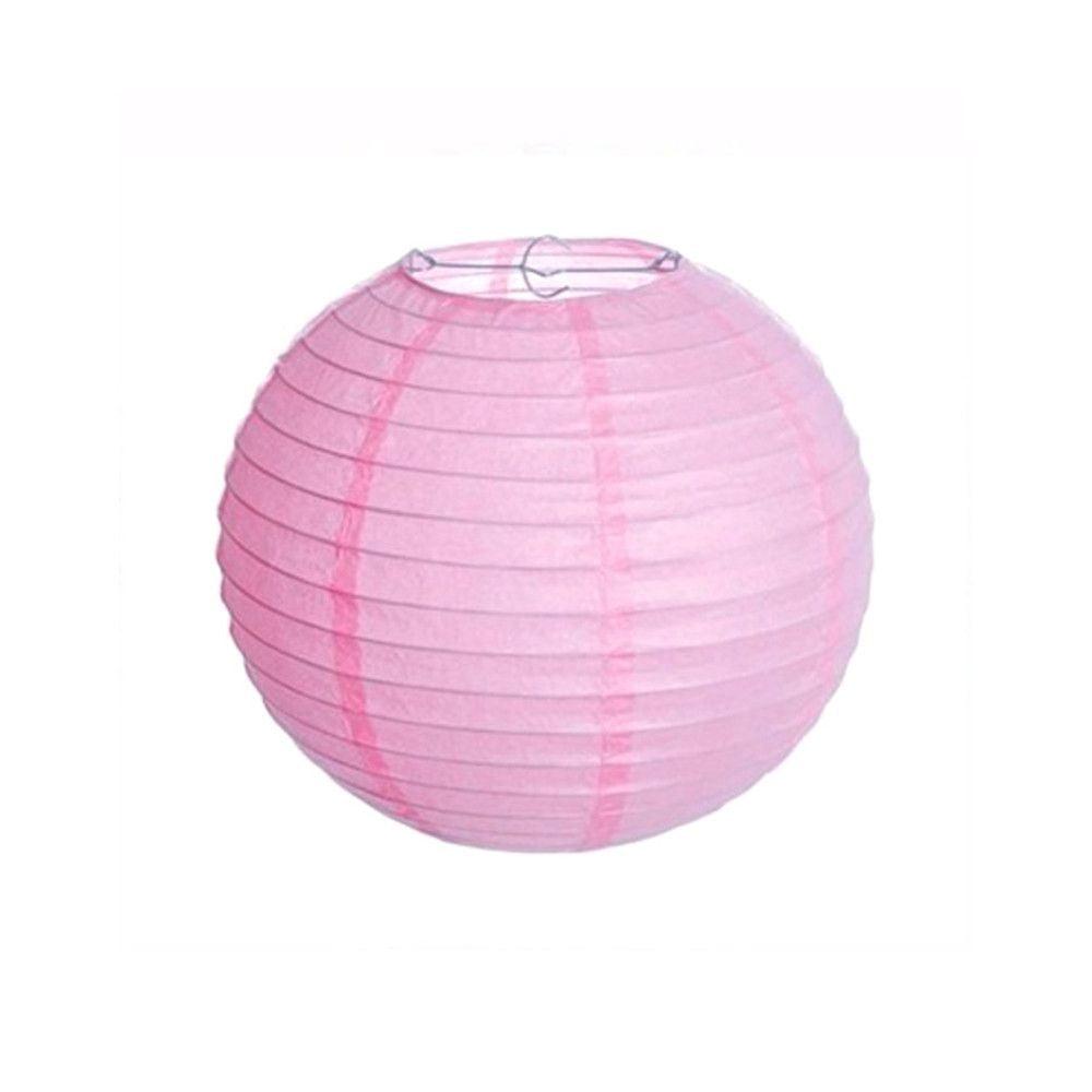 Luminária Oriental Rosa Lisa - 20 cm