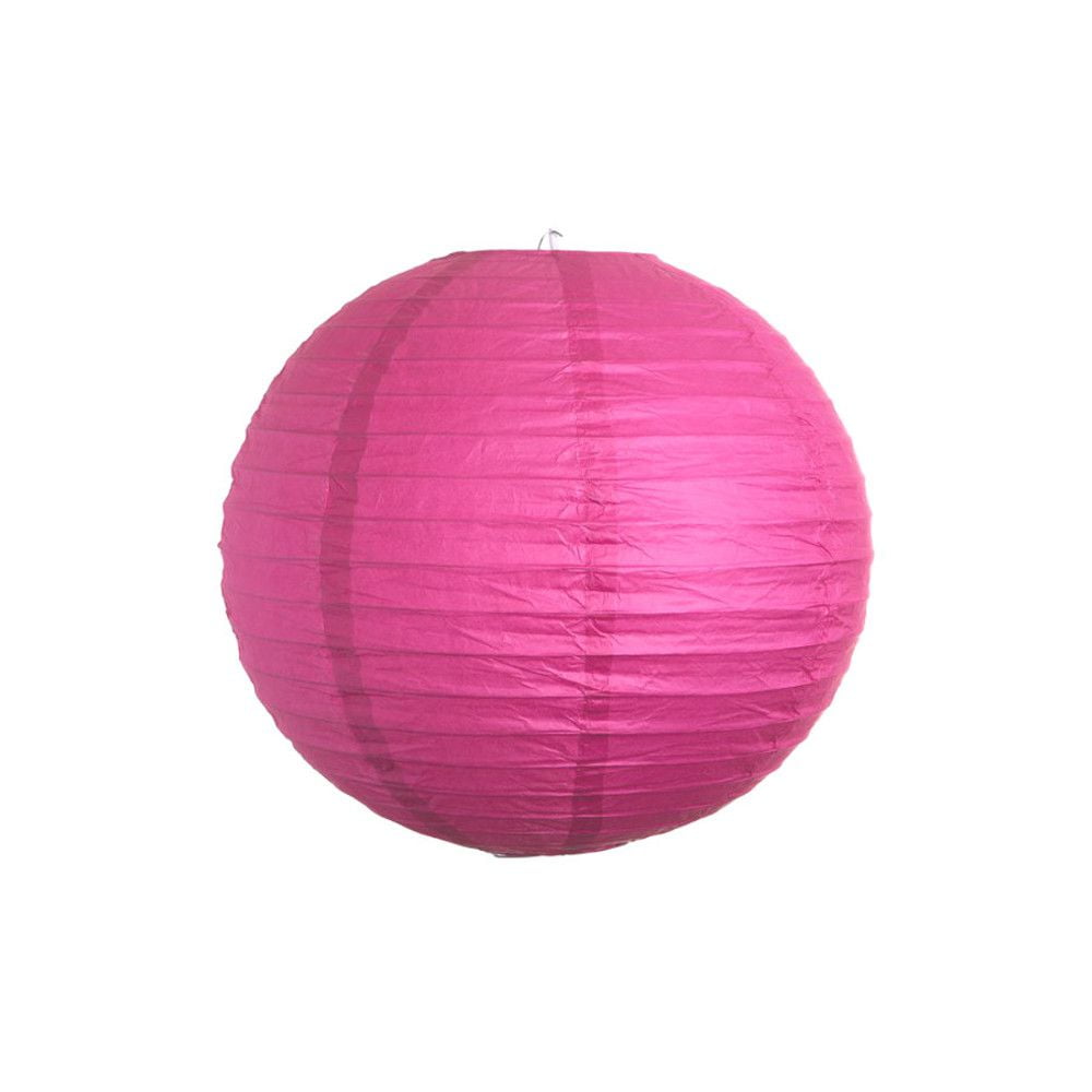 Luminária Oriental Rosa Pink Lisa - 20 cm