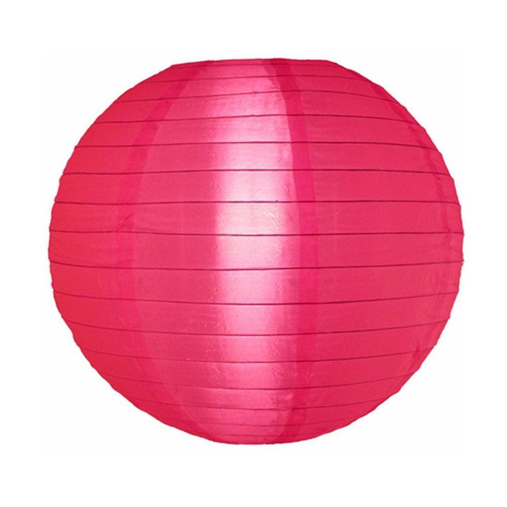 Luminária Oriental Rosa Pink Nylon - 40 cm