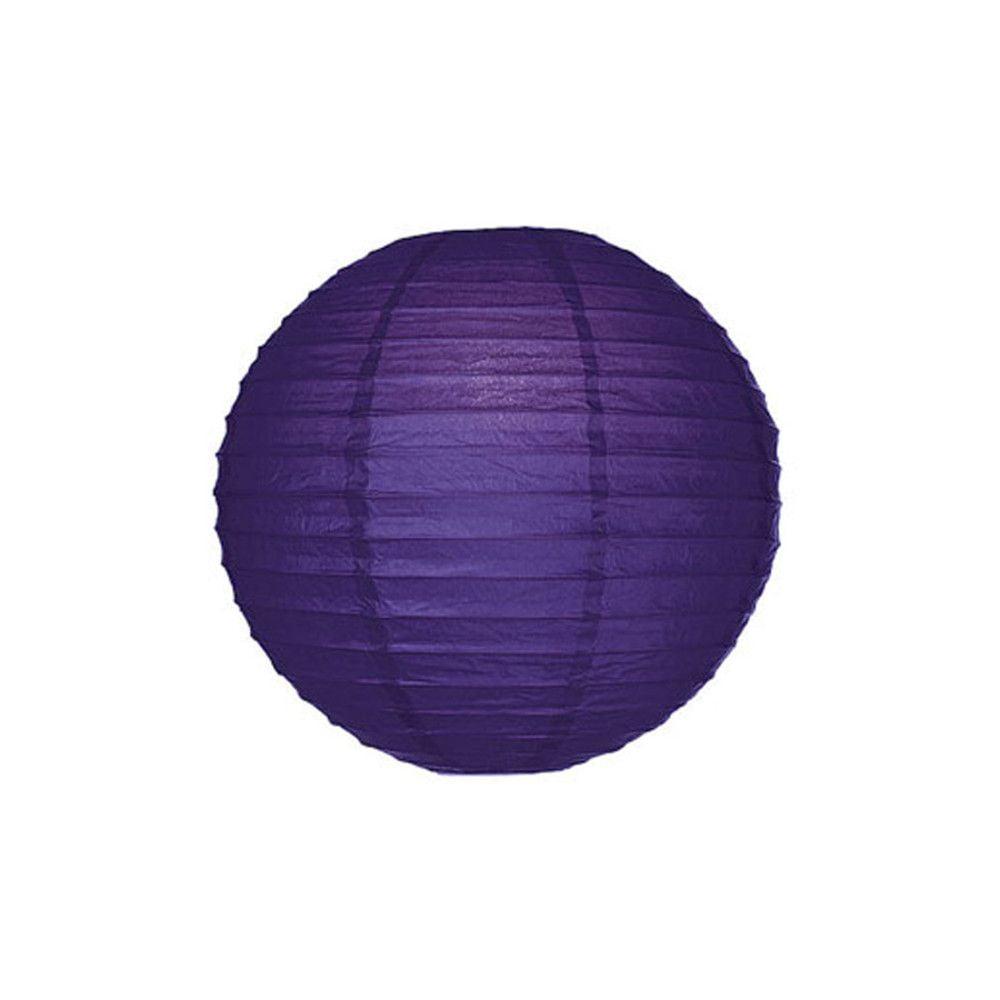 Luminária Oriental Roxa Lisa - 20 cm