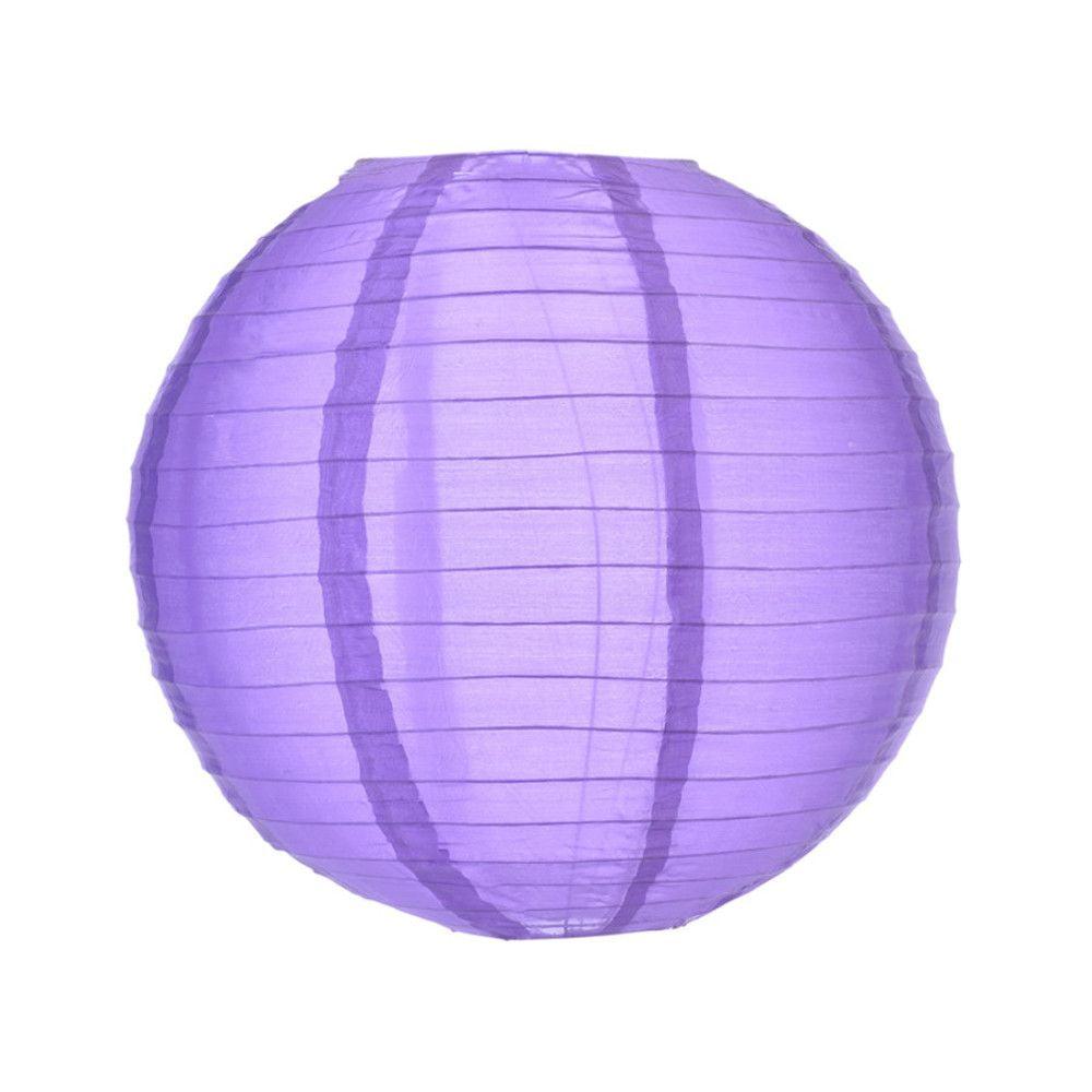Luminária Oriental Roxa Nylon - 35 cm
